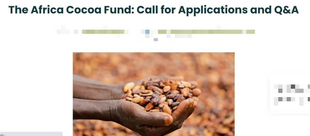 Africa cocoa fund to support farmers in Nigeria