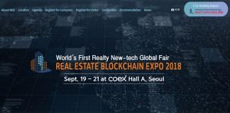 Real Estate Blockchain Expo RBE 2018