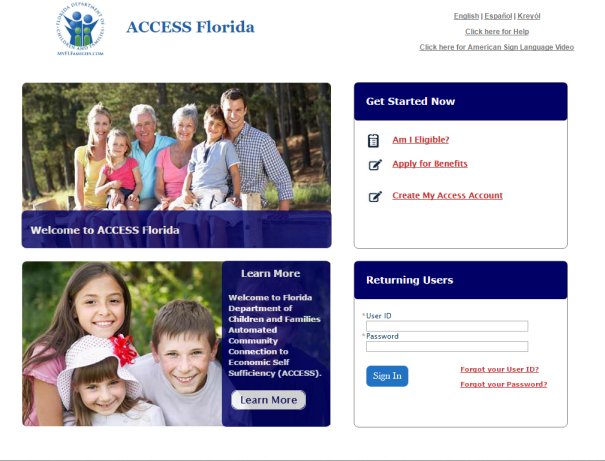 My Access Florida Login