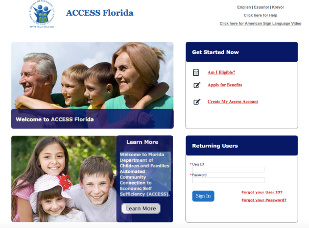 My Access Florida Phone Number