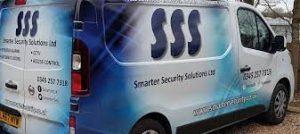Smarter Security Solutions Ltd in Northampton Van showing company information