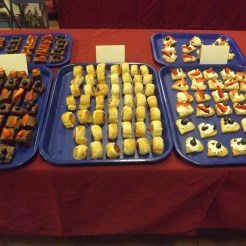 Canapes made by Year 10 Food Technology students for the Art/DT exhibition