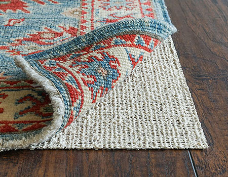 "RUGPADUSA, Nature's Grip, 2'6"" x 8', 1/16"" Thick, Rubber and Jute, Eco-Friendly Non-Slip Rug Pad 