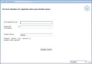Crear Password de administrador