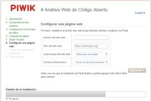 Piwik sitio web