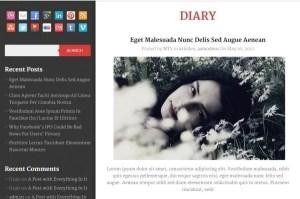 Diary WordPress Theme