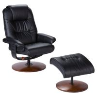 Anorak Bonded Leather Recliner and Ottoman ...