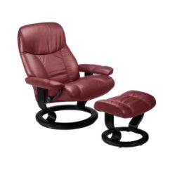 Recliner Vs Chair With Ottoman Tufted Wing Dining Ekornes Stressless Consul Small And Smart Furniture