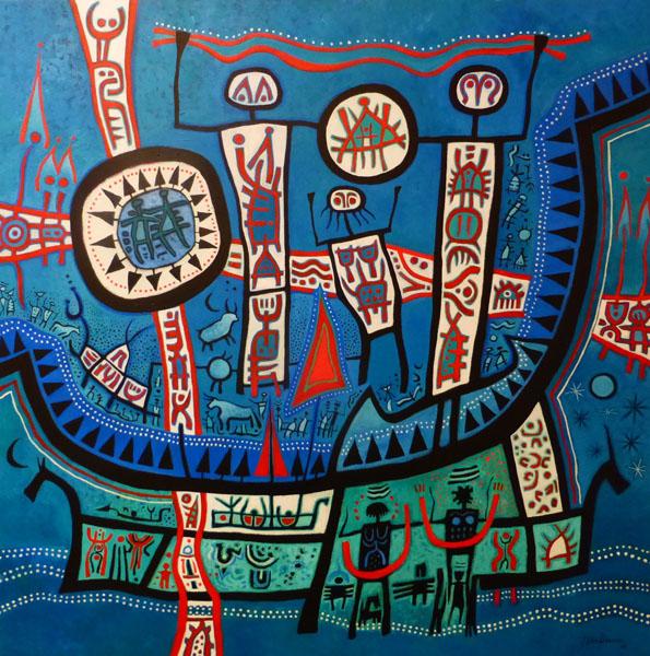 White River Crossing By J Alec Pearson
