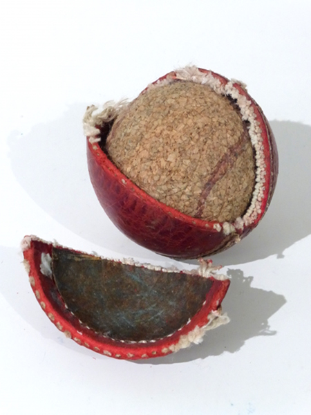 Dissected Cricket Ball