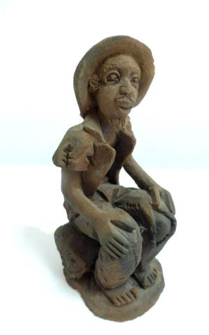 Clay Figurine From Zambia