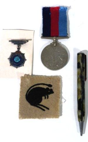 Joe Barrett's And Hurbert Grey's WWI Medals