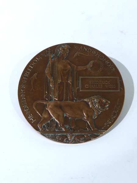 Frederick Charles Webb's Death Penny