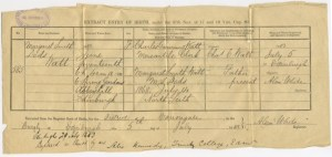Granny Thorp Birth Certificate