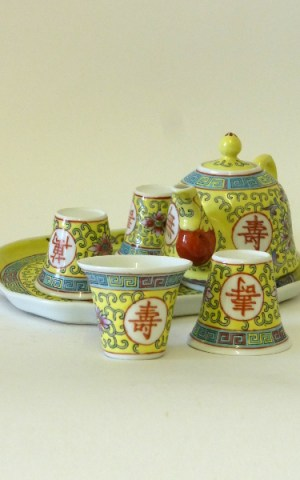 Yellow Chinese Tea Service