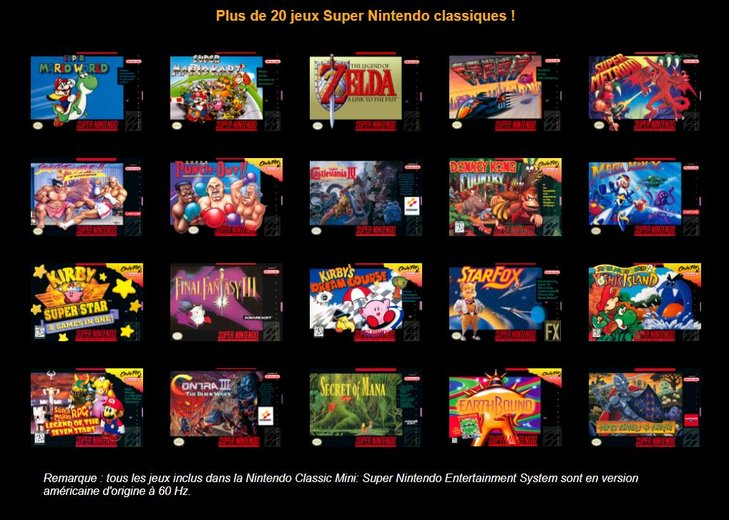 Jeux SNES Classic Mini