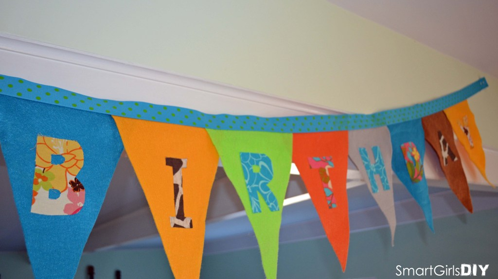 No Sew Happy Birthday Bunting