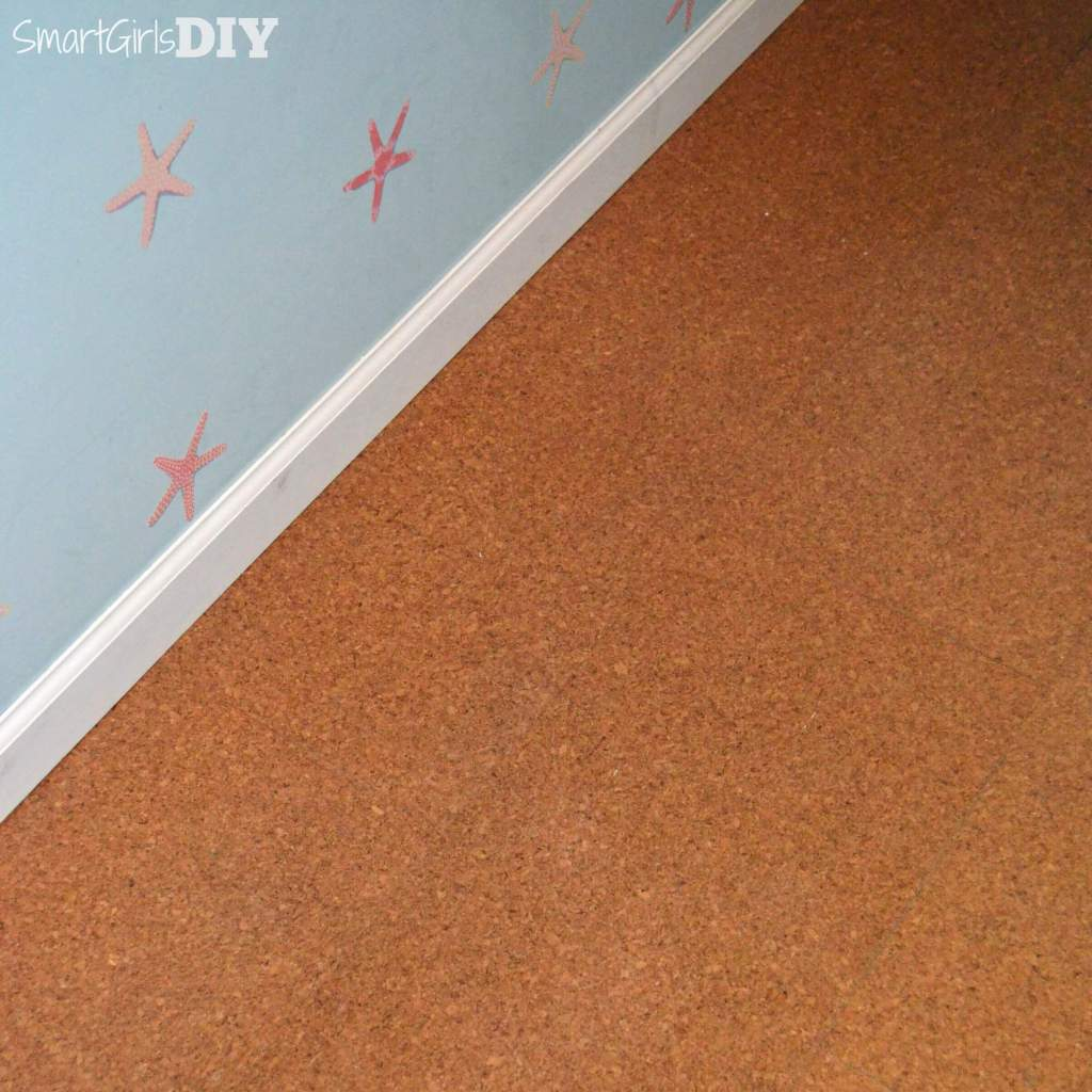 Cork flooring in laundry room