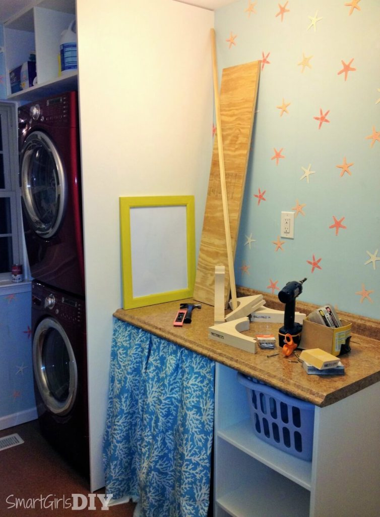 Laundry room makeover - needs shelves