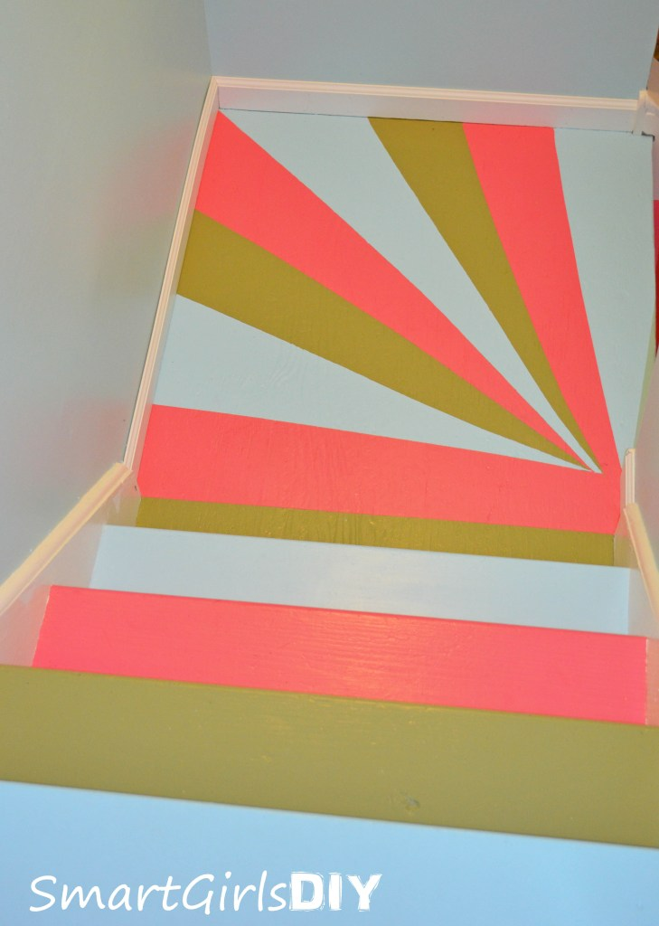 Basement Stair Makeover by Smart Girls DIY