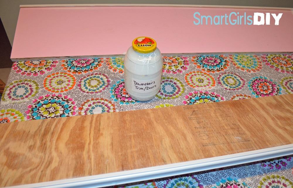 Smart Girls DIY Painting Shelves 2