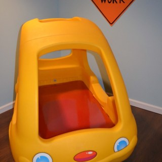 Toddler Bed –> Awesome Basement Toy