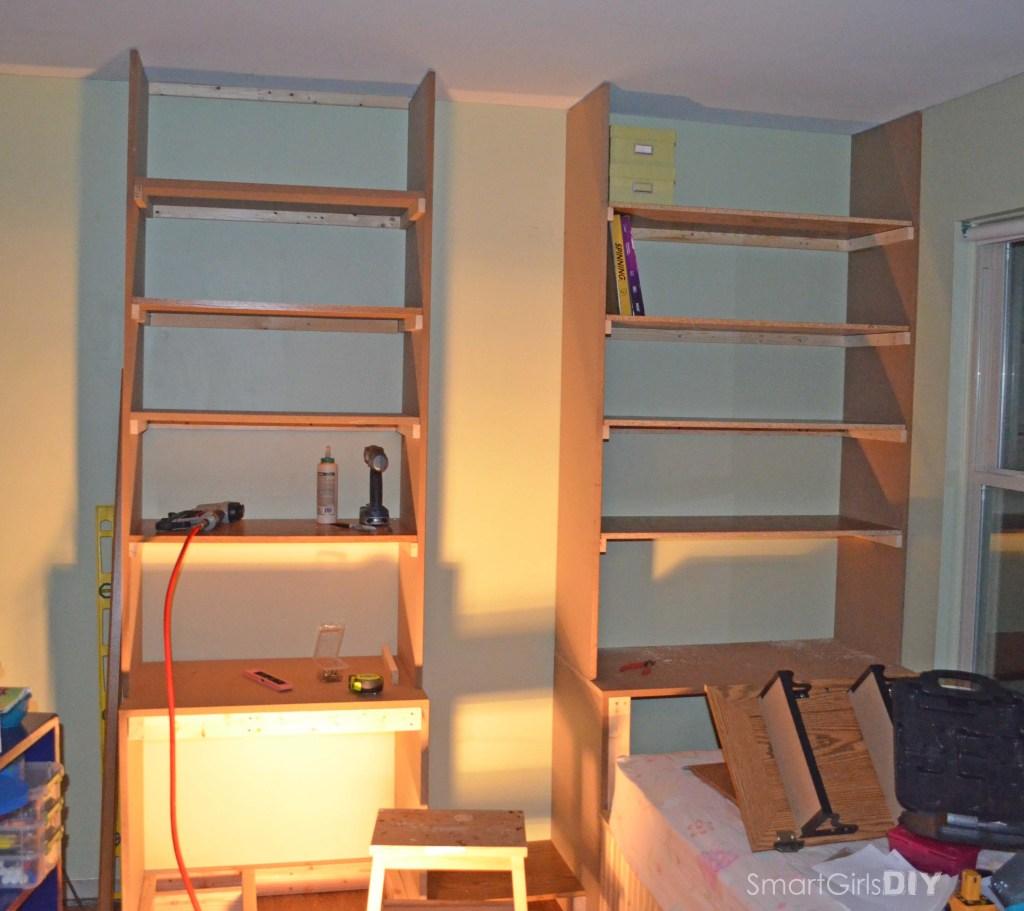4 shelves installed