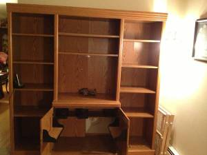 $60 Large Oak Sauder Wall Unit Bookcase - 2
