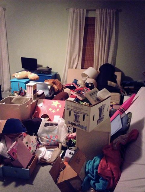 All the junk got dumped into another room