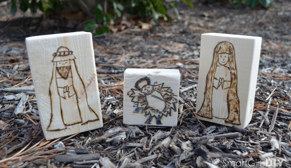 Nativity Block Set - Mary Joseph Baby Jesus