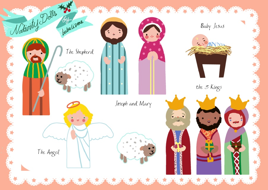 21 free nativity printables this easy diy nativity set from pretty prudent comes with a free printable designed for fabric print color with fabric paint and glitter of course solutioingenieria Gallery