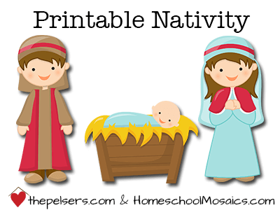 image relating to Free Printable Nativity Scene named 21 Absolutely free Nativity Printables