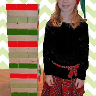 DIY Giant Jenga Christmas Gift