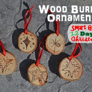 Wood Burned Rustic Ornaments