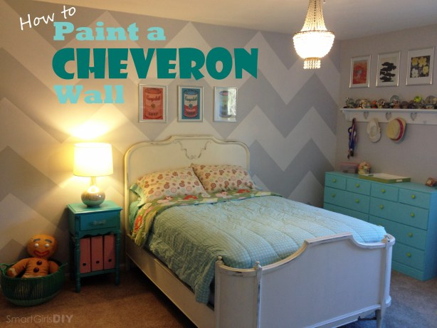 Smart Girls DIY - How to Paint a CHEVRON Wall