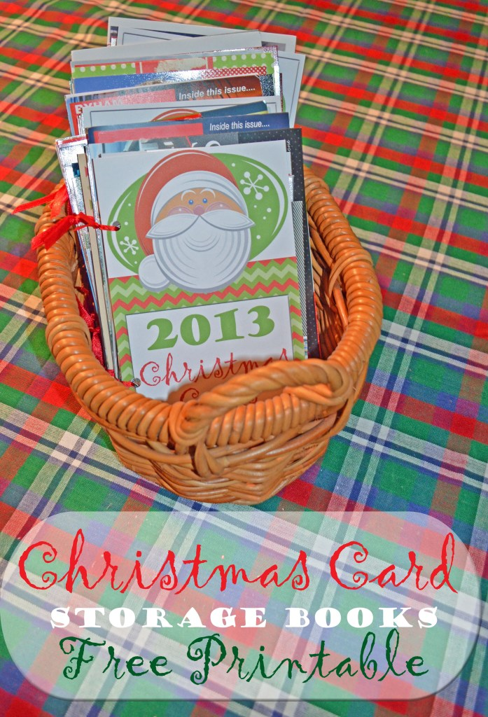 Christmas Card Storage Books Free Printable