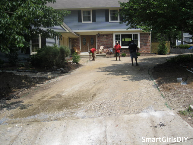 Existing concrete apron - getting ready to pour asphalt