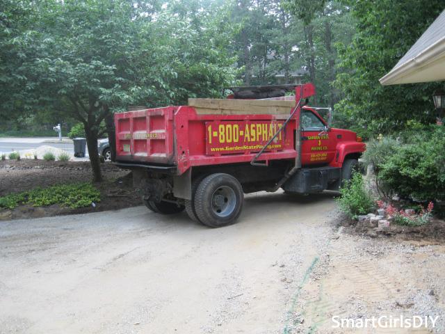 Gettind ready to pour asphalt driveway
