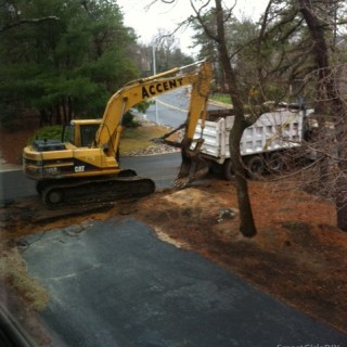 Yard History 2011- Removing Asphalt Road