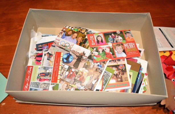 Poor Christmas Card Storage