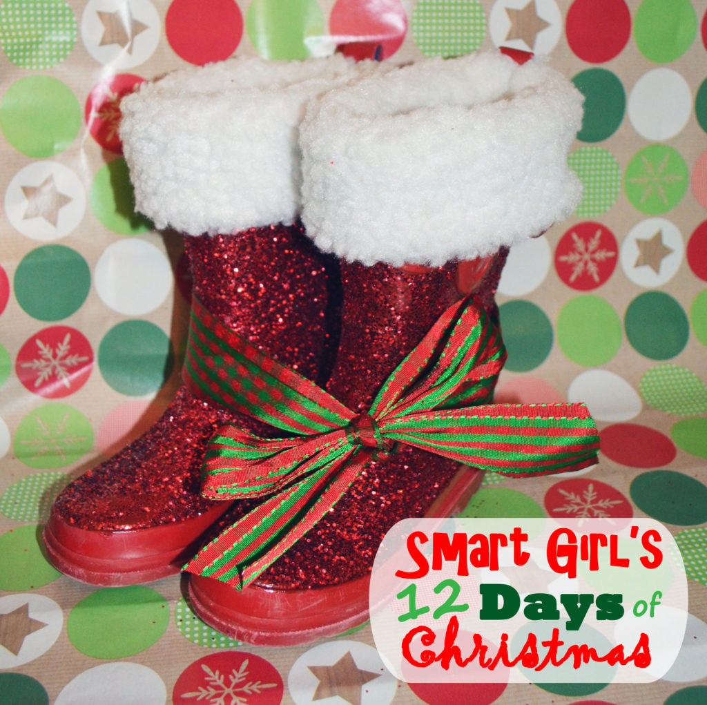 Smart Girls DIY - 12 Days of Christmas - Upcycled Santa Boots