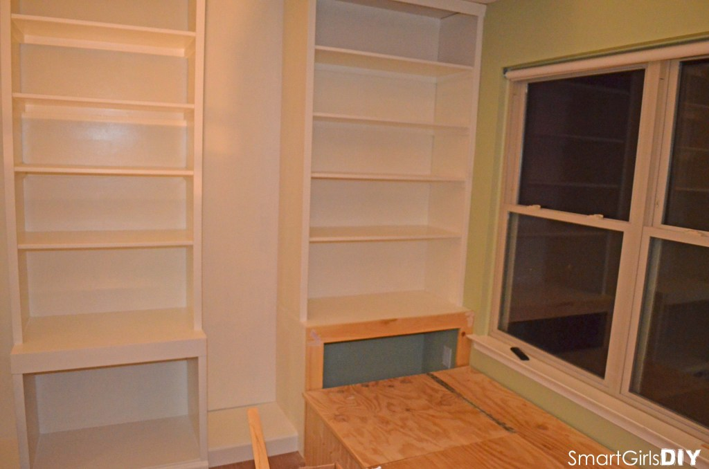Trimmed out shelf fronts