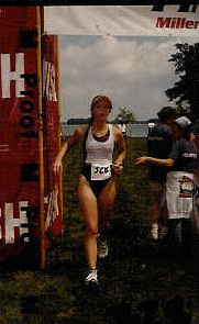 Finishing a triathlon