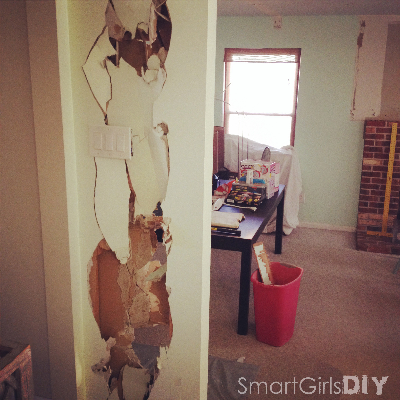 I sledge hammered the wall