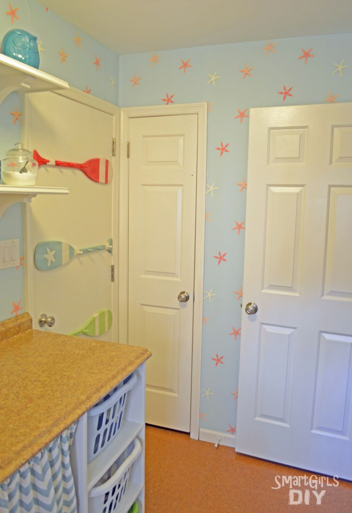 Laundry room makeover - hallway door open