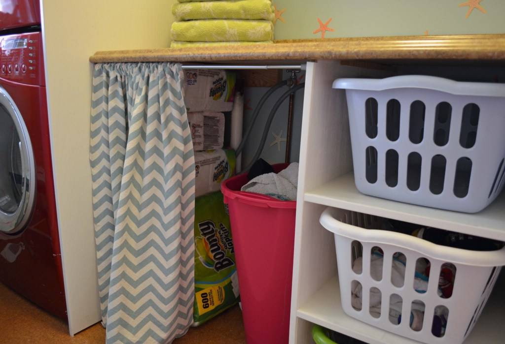 storage in laundry room