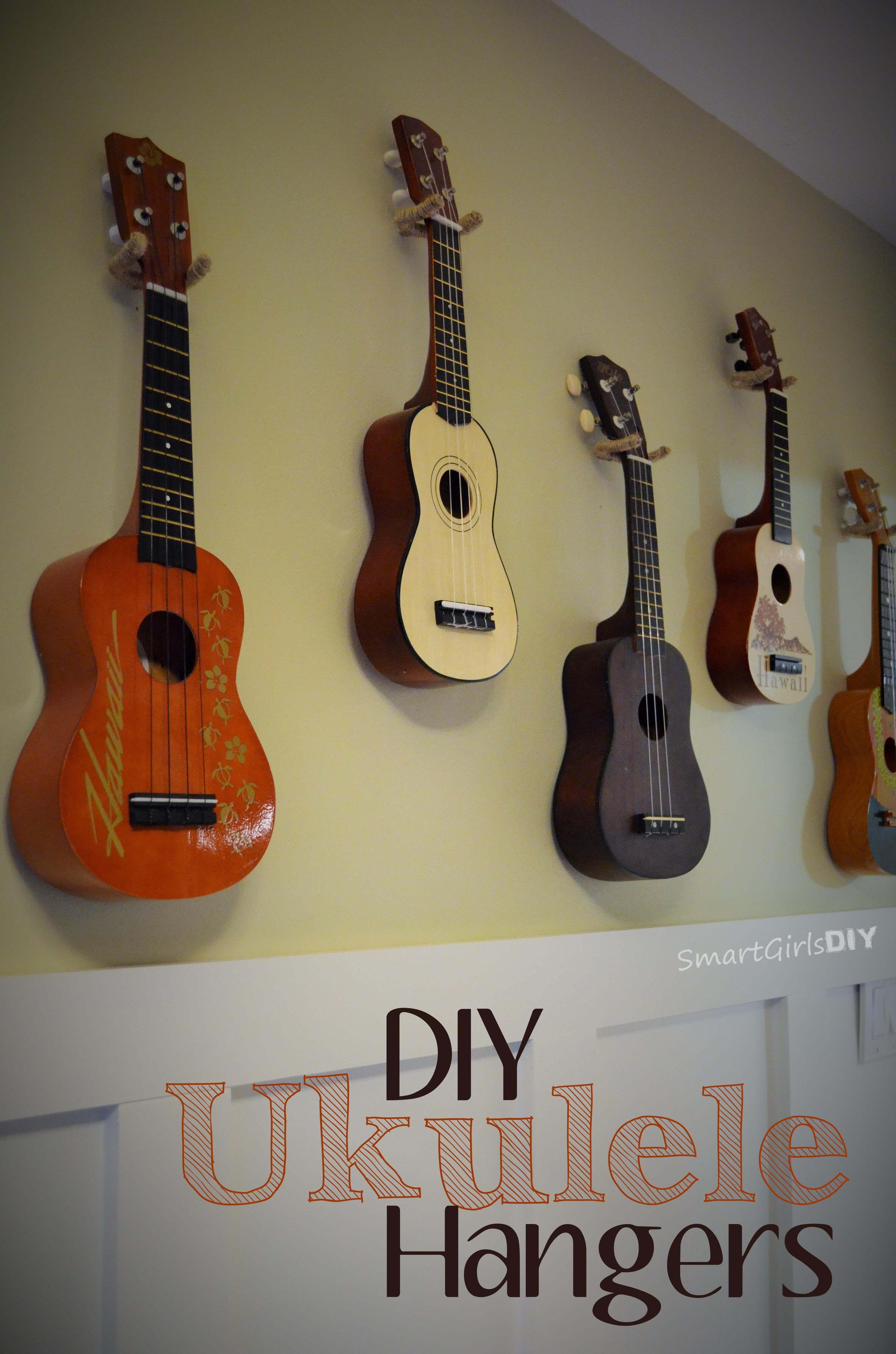 Jute wrapped diy ukulele hangers solutioingenieria Gallery