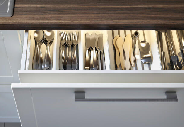 Interiors of Ikea's new Metod ktichen drawers