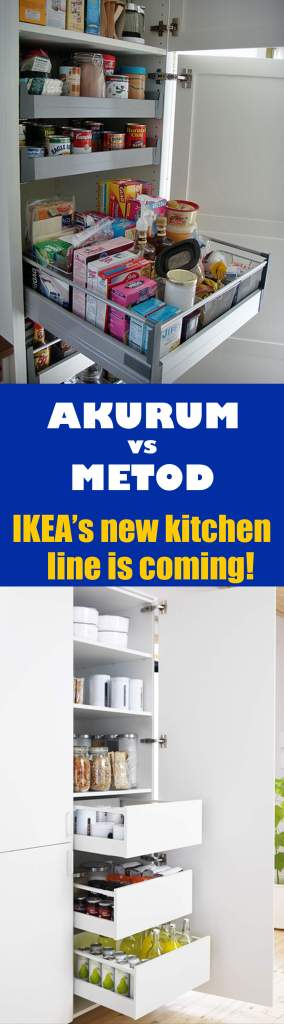 AKURUM vs METOD - new kitchen line from IKEA coming