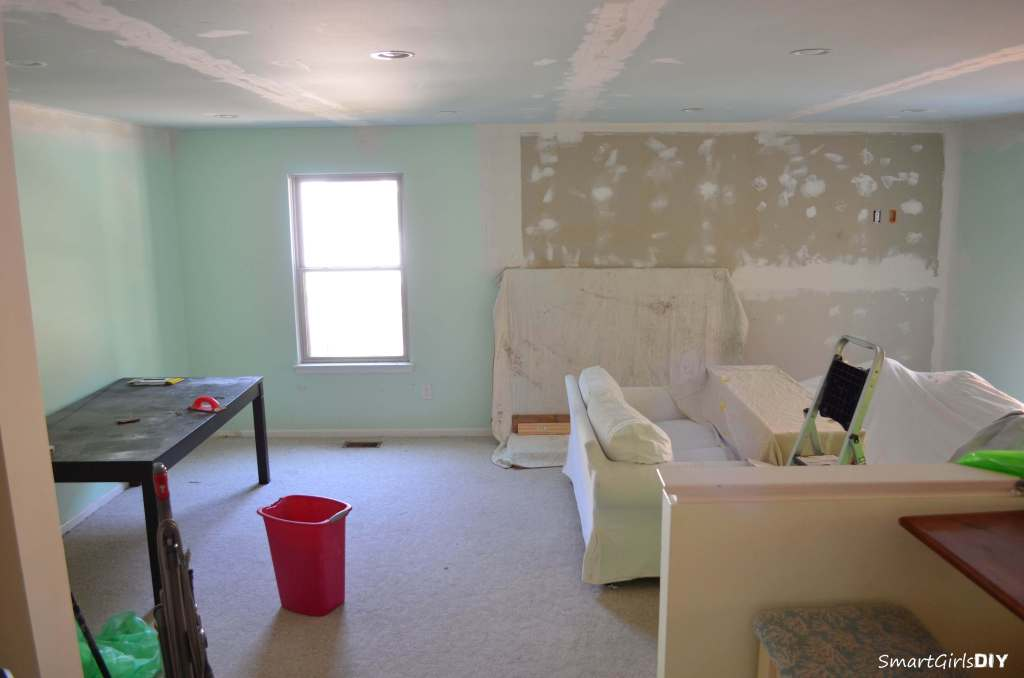 Family Room - ready to be sanded
